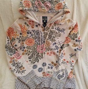 Lucky Brand Light Cotton Zip Up Hoodie
